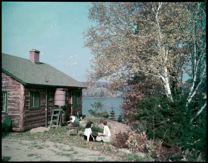 An autumn day at a summer cabin on the Gatineau River, Quebec, October 1950 / Chris Lund. Canada. National Film Board of Canada. Photothèque. Library and Archives Canada, e010955747 / CC BY 2.0