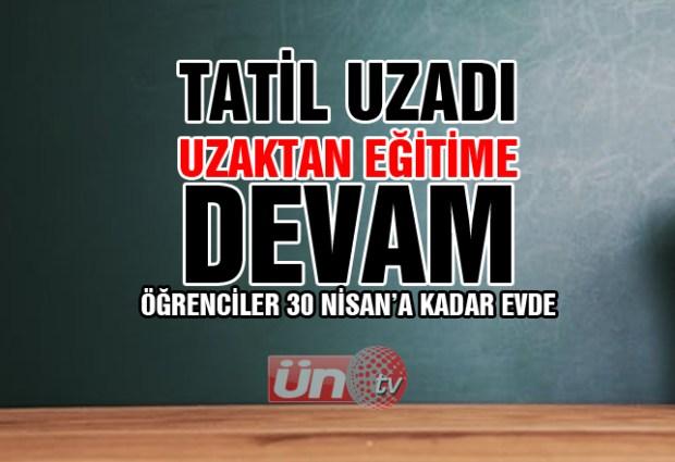 Okullar 30 Nisan'a Kadar Kapalı!