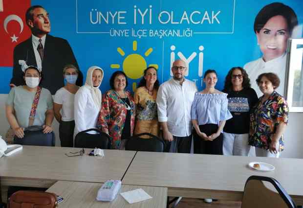İYİ PARTİ GENEL SEKRETERİ UĞUR POYRAZ ÜNYE'DE.