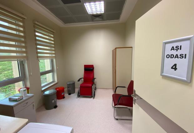 ÜDH'de Aşı Odaları Oluşturuldu