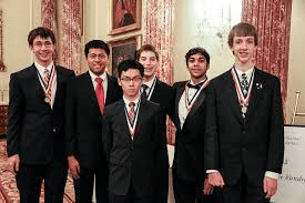 US Ties with China in 2019 Math Olympiad. The team: Vincent Huang, Luke Robitaille, Colin Tang, Edward Wan, Brandon Wang, and Daniel Zhu.