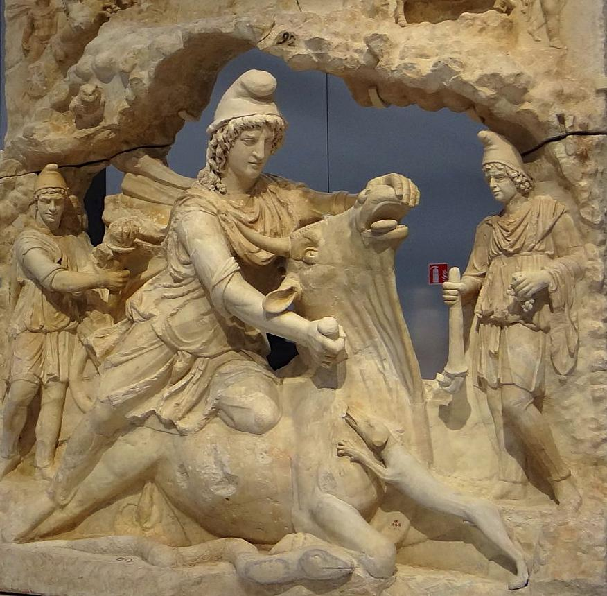 Mithras slaughtering the bull, c. 150 AD