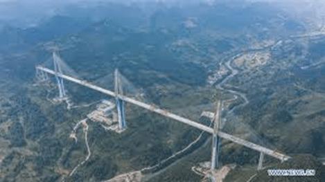 Pingtang Bridge, recently opened. Well over a thousand feet high