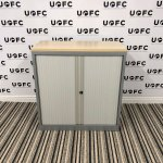 UOFC-Mid-Height-Silver-and-Maple-Tambour-cupboard-2