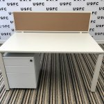 UOFC-Steelcase-Frameone-Bench-Desks-White-top-and-Frame-1