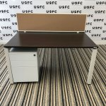 UOFC-Steelcase-Frameone-Bench-desks-in-Walnut-and-White-2