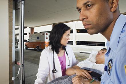 Teen arriving at emergency room