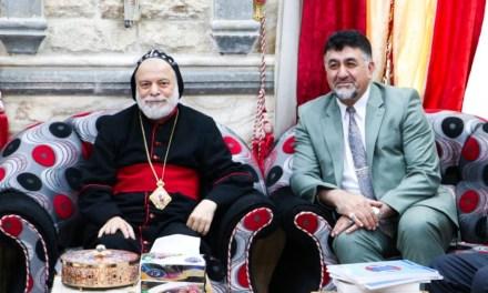 رئاسة جامعة الحمدانية تلبي دعوة راعي أبرشية دير مار متي للسريان الآرثوذكس