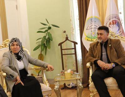 النائب لليان محمد علي في ضيافة جامعة الحمدانية