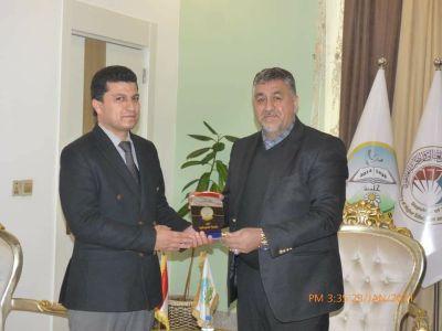 عضو البرلمان العراقي محمد ابراهيم الشبكي في ضيافة جامعة الحمدانية