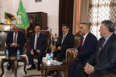 الأعرجي يشارك في مراسيم استقبال معالي وزير التعليم العالي والبحث العلمي