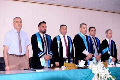 تدريسي بجامعة الحمدانية عضواً مناقشة لرسالة ماجستير بجامعة الموصل