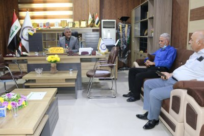 السيد رئيس الجامعة يجتمع باللجنة المركزية للترقيات العلمية في جامعة الحمدانية