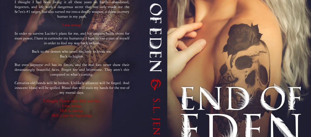 SL Jenning's End of Eden's cover reveal is here and we love it!