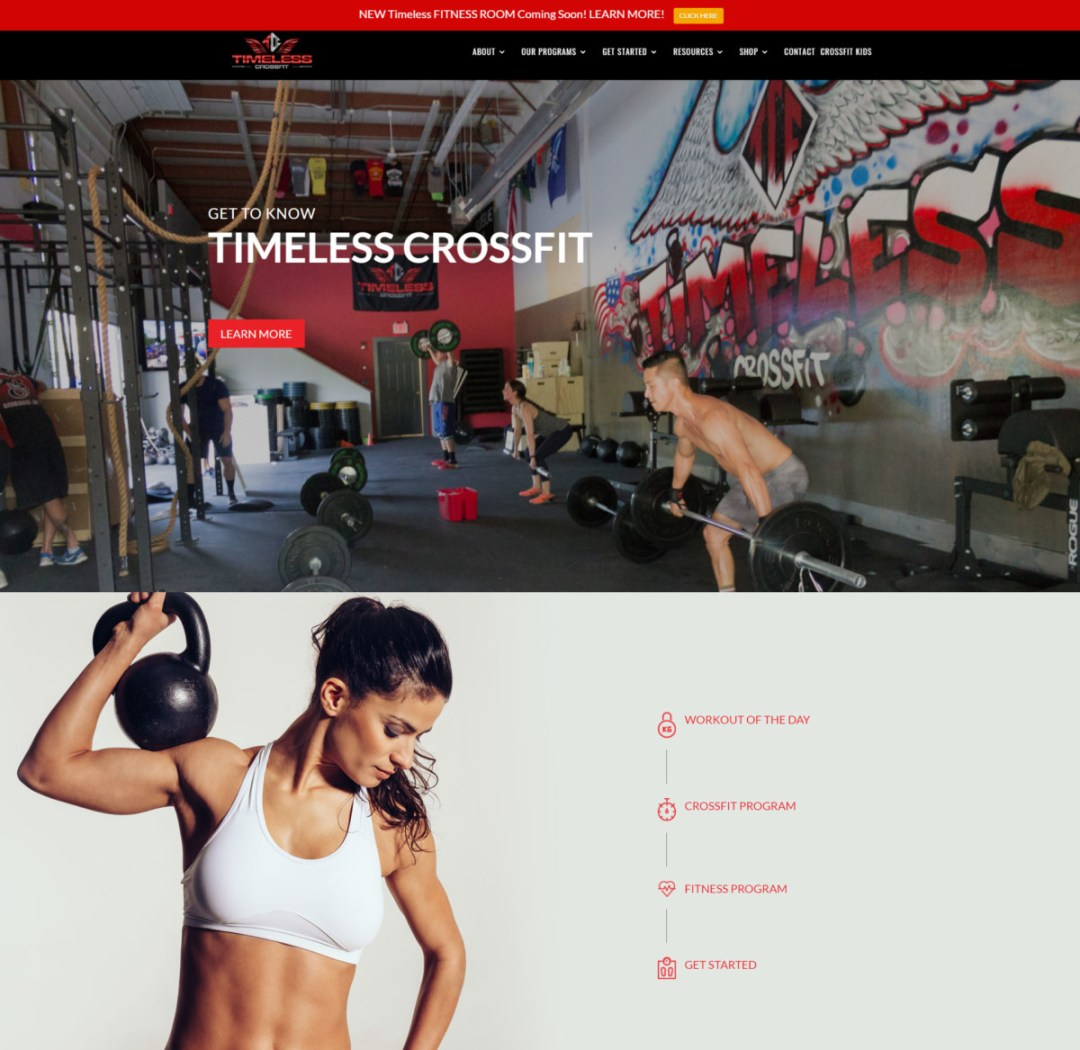 Crossfit Website Design