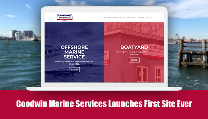 Boatyard Web Design for Goodwin Marine Services