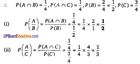 Class 12th Maths Chapter 13 Solutions Probability