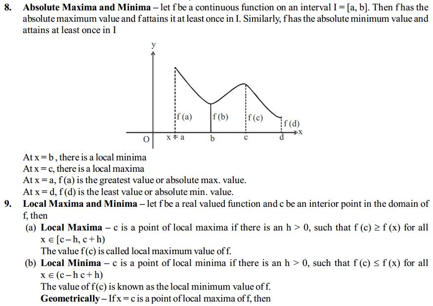 Application of Derivatives Formulas for Class 12 Q4