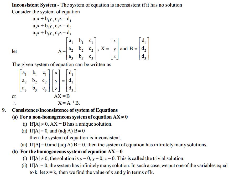 Determinants Formulas for Class 12 Q3