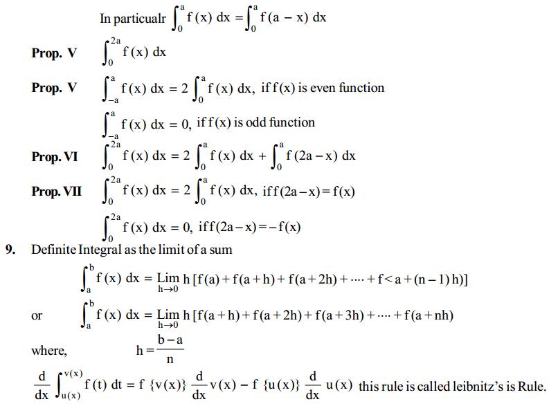 Integrals Formulas for Class 12 Q8