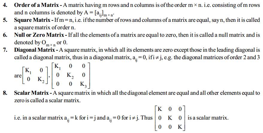 Matrices Formulas for Class 12 Q2
