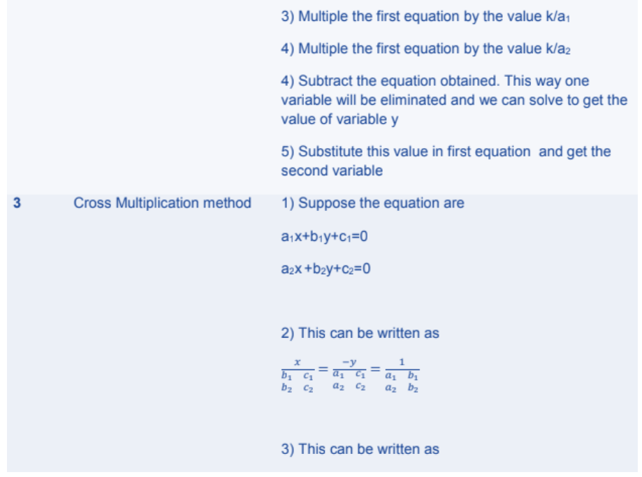 Pair of Linear Equations in Two Variables Formulas for Class 10 Q6