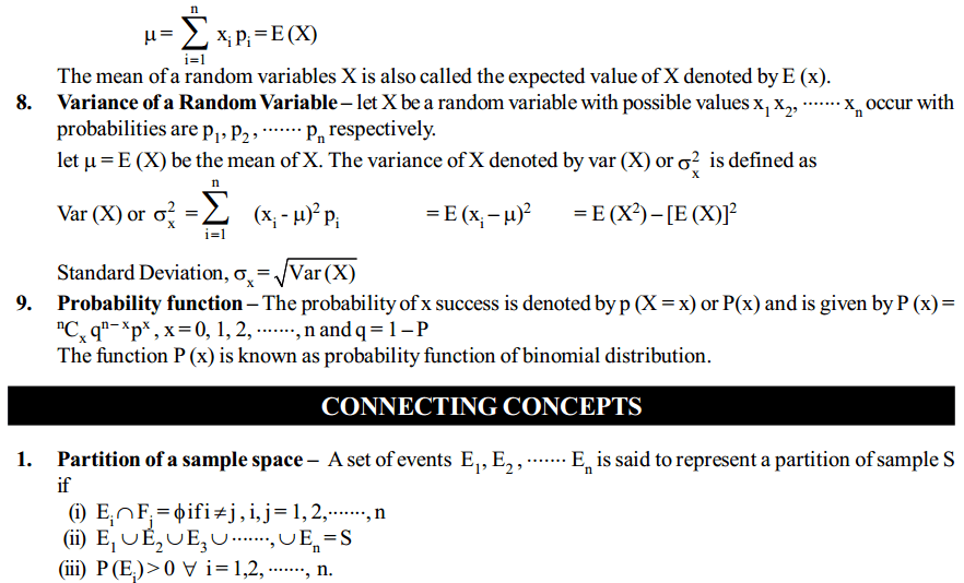 Probability Formulas for Class 12 Q3