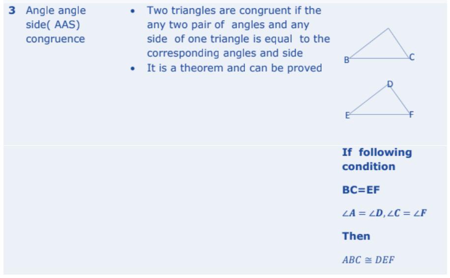 Triangles Formulas for Class 10 Q6