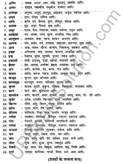 UP Board Class 8 Hindi Solutions व्याकरण 11