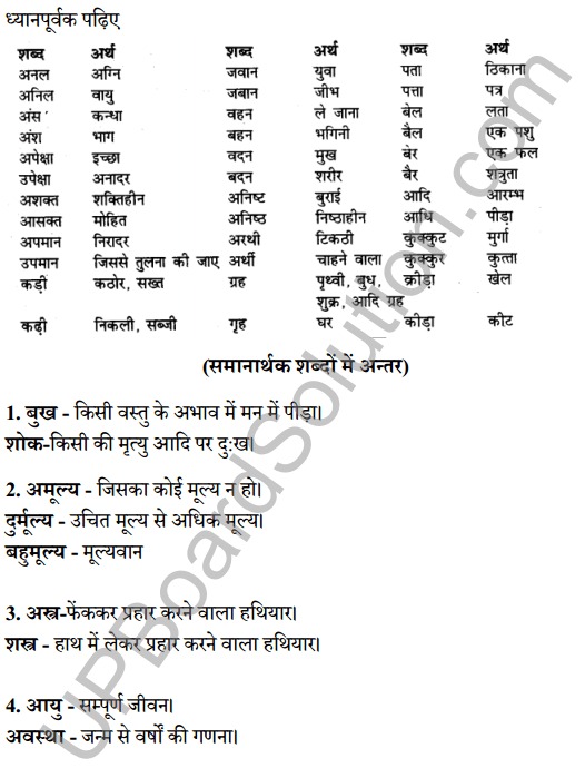 UP Board Class 8 Hindi Solutions व्याकरण 6