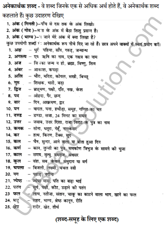 UP Board Class 8 Hindi Solutions व्याकरण 8