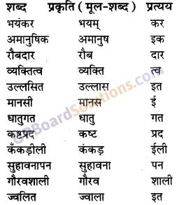 UP Board Solutions for Class 10 Hindi प्रत्यय img-1