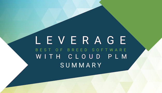 Leverage best of breed software with cloud PLM