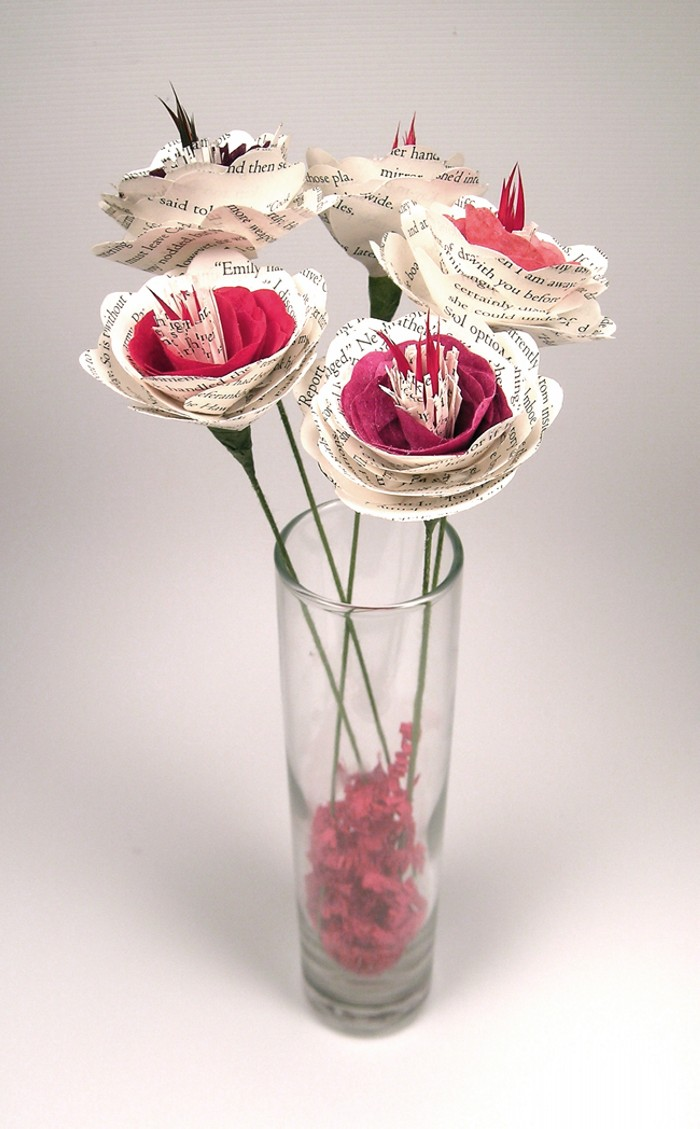 Upcycled Paper Flower Bouquets Upcycle Art