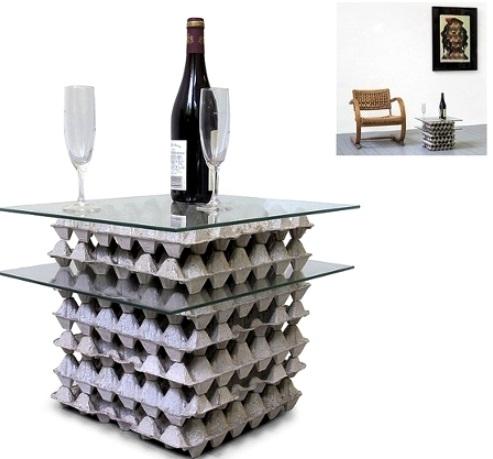 ideas del arte cartón reutilización del lado de vidrio de mesa hecha a mano superior barato fácil