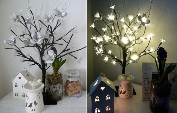 Pascua ideas del arte cartón de huevos que encienden las ideas reutilizar flores decoración del árbol florero