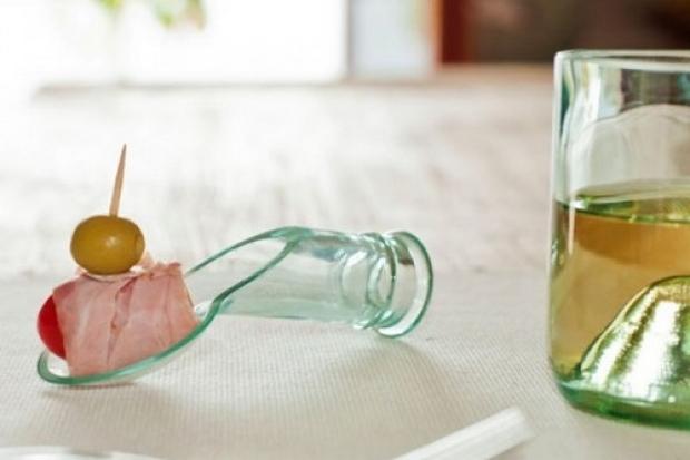la reutilización de botellas de vidrio de cuello bricolaje ideas de cuchara de la cocina el desayuno