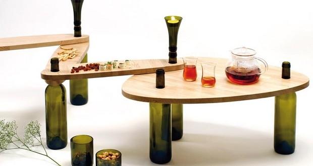 reutilización de vidrio botellas de vino de mesa-upcycled-vela-titular-inspiradora-idea
