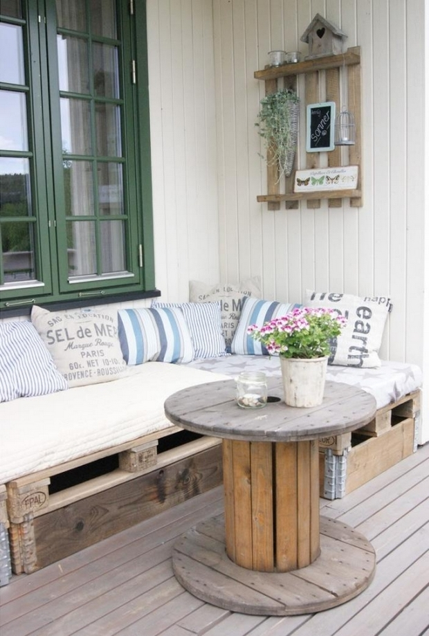 wooden cable spool table 40 upcycled