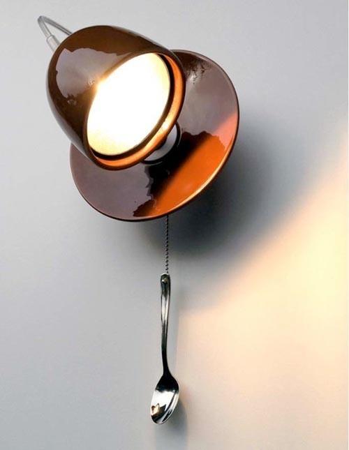 reciclar el viejo taza de té de porcelana colgando ideas de bricolaje hogar de la lámpara