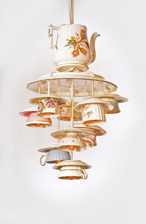 tazas de té de porcelana de reutilización creativa de la lámpara teaware Ideas