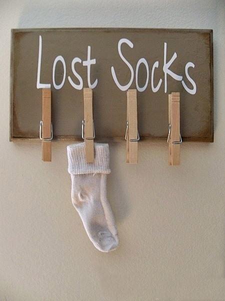 calcetines perdidos pared de DIY la artesanía del sostenedor del organizador pinza de ropa decoración de interior