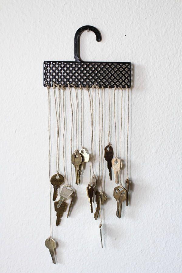 idea viento artesanías carillón Upcycling de llaves de metal utilizados cuelgan en la pared