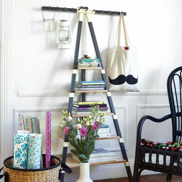 Upcycled Ladder Shelves Creative A Frame Bookcase
