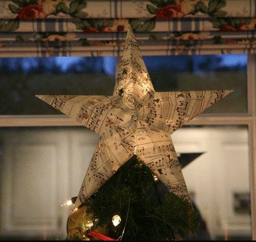 página del libro de adornos de Navidad reutilizados notas musicales adorno de las ideas upcycling