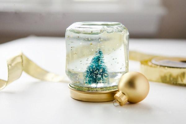tarro de albañil globo de nieve de la Navidad DIY crafts bola del árbol de adorno de la decoración