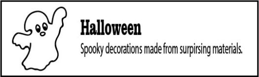 How to make Halloween decorations form upcycled materials