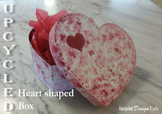 Upcycled Heart Shaped Box