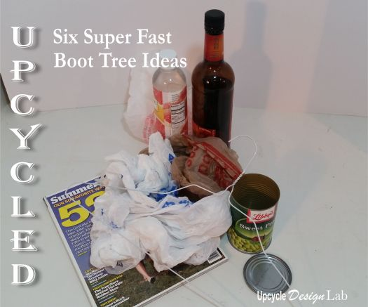 upcycled boot tree idea made from trash