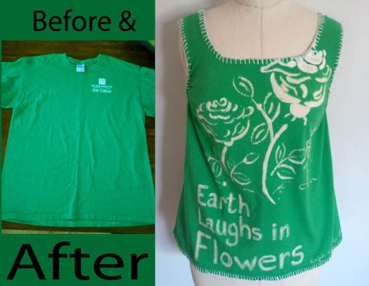 Before and after bleach t-shirt